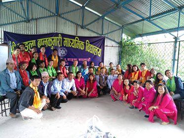 Volunteering in Sangla Balkumari Secondary School in